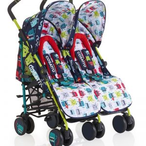 Cosatto Supa Dupa Twin Stroller – Cuddle Monster 2