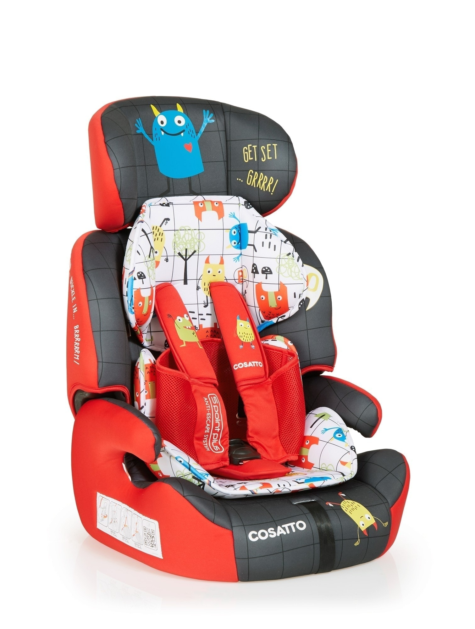42ed81be3ba9 WebPlus COSATTO ZOOMI GROUP 123 MONSTER MOB  4 RGB. Home   Shop   Car Seats    Child   Cosatto Zoomi Highback Booster Car Seat with Harness ...